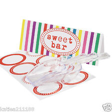 wedding birthday multi vintage candy buffet bar scoops & label sticker set
