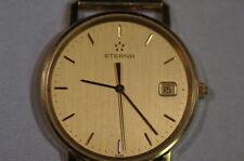 Eterna 585 oro reloj Hombre, Hau 585, llena de oro, cuarzo, no hay rotura oro