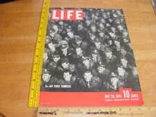 US 8th Air Force bombers soldiers WWII 1943 Life Magazine ORIGINAL cover only