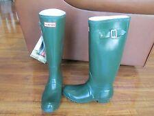 NEW Hunter Rubber Rain Boots Original Tall Women's Size 6 MED GREEN W23177