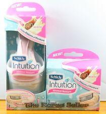 Schick intuition Advanced Moisture Shea Butter Razor+ 5 Cartridges Blades+Holder