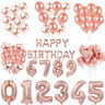 Rose Gold Foil Latex Balloon Set Helium Star For Wedding Birthday Party Xmas /MY