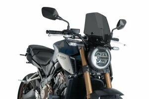 Puig Dark Smoke Sport Screen Honda CB650R Neo Sports Cafe 2019-2021 9748F