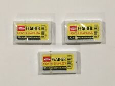 30 Feather New Hi-Stainless Platinum Coated Double Edge Razor Blades Fast Ship