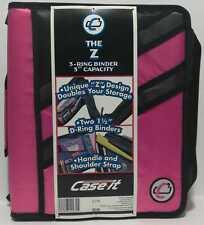 Case It 15 Dual D Ring Z Shaped Zipper Binder 3 Capacity Z 176 Loc Bk 12