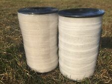ELECTRIC FENCE TAPE - 2 x 20mm White Rolls 400m In Total Poly Fencing Horse