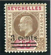 More details for seychelles-1903 3c on 45c brown & carmine