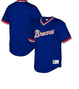 Mitchell & Ness Atlanta Braves Baseball Jersey New Mens Sizes MSRP $90