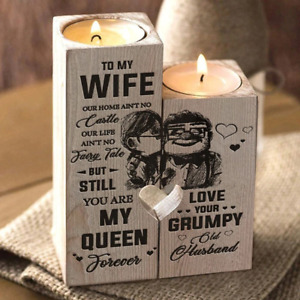 Newly Husband To Wife -You Are My Queen Forever- Candle Holders With Candle Gift