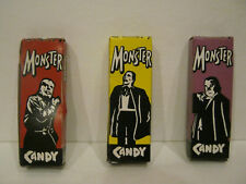 MONSTER CANDY Vintage Boxes - Wolfman, Dracula and Phantom, Used...