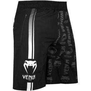 Venum Logos Drawstring Waist Fitness Shorts - Black/White
