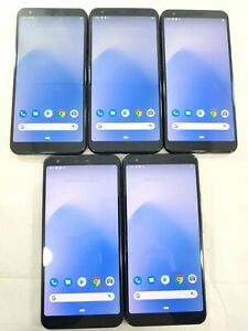 LOT of 5 Google Pixel 3a XL G020C/A 64GB GSM Unlocked Assorted Smartphone A112L