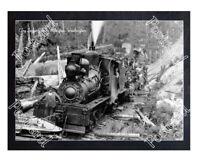 Historic Ebey Logging Co. - Arlington, Washington Train Postcard 2