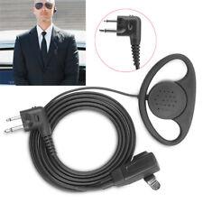 2 Pin D-Shape PTT Earpiece Headset for Kenwood Motorola Radio CP040 CP200 GP300
