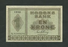 More details for norway 1 krone 1950  krause 15b  ef-au banknotes