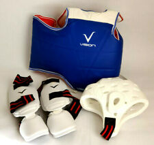 Vision Martial Arts 6 Pc Taekwondo Men's/Women's Sparring Gear Set- Size Medium