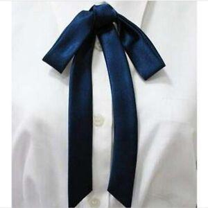 Vintage Black Satin Western Bow Tie Mid Century Cowboy Colonel Bowtie Accessory