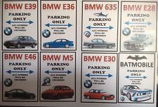 "BMW Parking Only Stickers(3.5""x 2.5"" ) E39, E36, E24, E28, E46, M5, E30, E9"