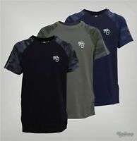 Boys Ripstop Ribbed Crew Camo Detailing T Shirt Sizes Age from 5 to 14 Yrs