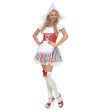 Ladies Dutch Girl Fancy Dress Costume Netherlands Olland Outfit Uk 8/10 Womens