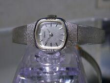 "Womens Silver Seiko Ultra Thin Light Mechanical Wind 7"" Watch Gold Clasp & Chain"
