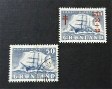 nystamps Greenland Stamp # 35 B1 Used $34