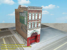 N Scale Building Fire Station -  PRE-CUT Card Stock (PAPER) Kit  FS1N