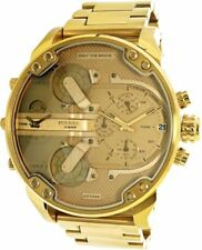 Para Hombre Diesel DZ7399 Mr Daddy 2.0 Todo Oro Cronógrafo Reloj RRP £ 399