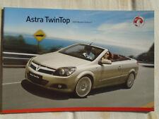 Vauxhall Astra TwinTop range brochure 2009 models Ed 1