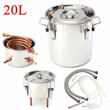 5Gal 20L Copper Water Distiller Moonshine Alcohol Ethanol Still Stainless Boiler