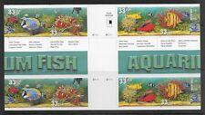 US Stamps #3317-3320 33¢ Aquarium Fish Cross Gutter Block of 8 MNH