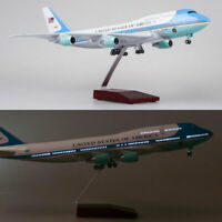 47cm 1/150 US Air Force One Airplane Diecast Model w/ Undercarriage& Voice Lamps