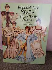 Vintage 1990 RAPHAEL TUCK BELLES Paper Dolls UNCUT Marta K. Krebs NEW