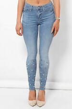 75775ecb784c3 Womens Mid Waisted Skinny Jeans Jeggings Ex River Island Molly Collection  4-18