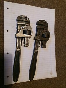 Record 10 inch pipe wrench x2
