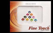 Bindi Strass Quadrate Bollywood Mehrfarbig Tilak Dot Tika Bijoux Haut 5 MM 366