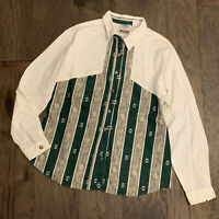 VTG Roper Western Southwest Cowgirl Shirt 90s Cowboys Turtle Rodeo Womens Large