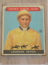 1933 Sport Kings Laverne Fator Card #13 PSA Poor 1 Horse Racing