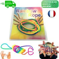 Rainbow Rope cordelette arc-en-ciel Jeu doigt jeu corde filament (idem Ztringz)