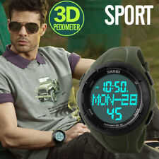 Men Sports Watches SKMEI LED Digital Watch Pedometer 3D Calories Military Watch_