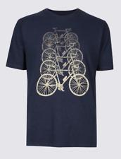 Mens M&S COLLECTION Pure Cotton Bike Design Crew Neck T-Shirt