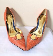 Rocawear Norah Womens Orange Pointed Toe Slip On Pumps Size 8.5