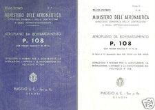 Piaggio P.108 Bombardiere RARE 1942 Italian WW2 historic archive manual