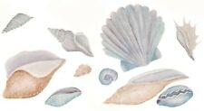 Blue Tan Seashells Sea Shells Select-A-Size Ceramic Waterslide Decals Xx
