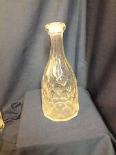 Flint Mold Blown Honeycomb Decanter
