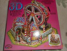 3-D Revolving Ferris Wheel Jigsaw Puzzle Pre-owned