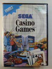 SEGA MAÎTRE JEU CASINO GAMES sans instructions emballage d'origine, utilisé