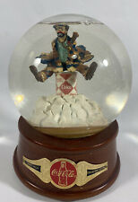 """Rare Coca Cola Emmett Kelly Musical Water Globe Clown """"AT THE RED COOLER"""" 1994"""
