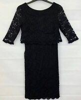 WALLIS PETITE Womens Black Floral Party Dress Size 10
