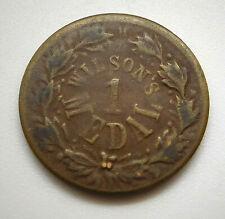 1863 Liberty Head/ Wilson's 1 Medal Civil War/ Trade Token